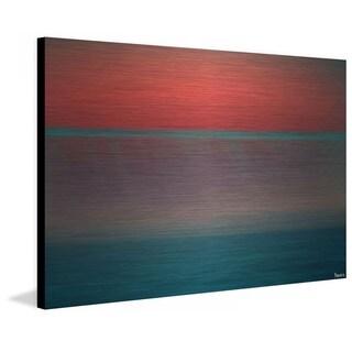 "Parvez Taj - ""Orange Sunset"" Print on Brushed Aluminum"
