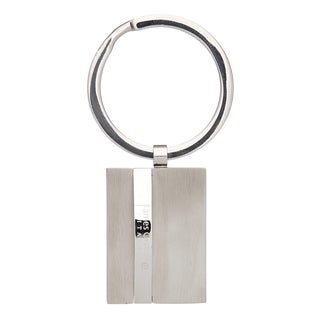James Cavolini Stainless Steel Sleek 3D Rectangle Key Chain