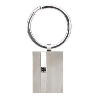 James Cavolini Stainless Steel Sleek 3D Rectangle Key Chain https://ak1.ostkcdn.com/images/products/10433546/P17531284.jpg?impolicy=medium