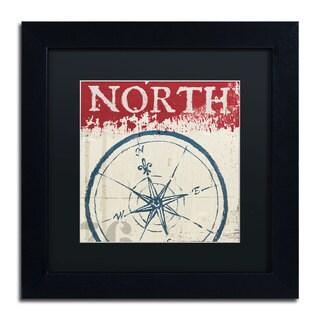 Wellington Studio 'Nautical I Red' Black Matte, Black Framed Wall Art