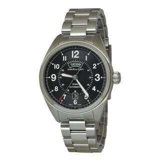 Hamilton Men's H70505133 Khaki Field Black Watch