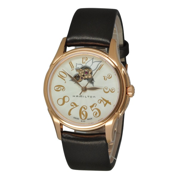 55b4210a1 Shop Hamilton Women's Jazzmaster White Watch - Free Shipping Today -  Overstock - 10433588