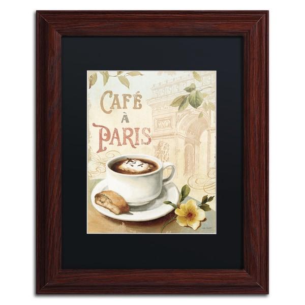 Lisa Audit 'Cafe in Europe I' Black Matte, Wood Framed Wall Art