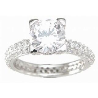 Sterling Silver Cubic Zirconia Eternity Wedding Ring