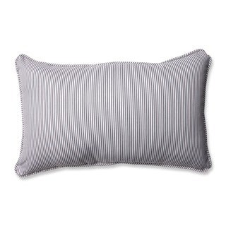 Pillow Perfect Oxford Charcoal Rectangular Throw Pillow