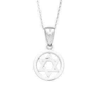 James Cavolini Stainless Steel Star of David Pendant Necklace