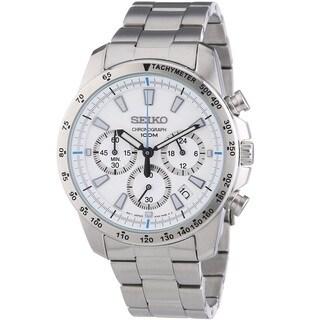 Seiko Men's SSB025P1 Chronograph White Watch