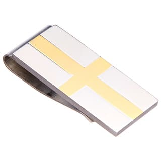 James Cavolini Two-Tone Stainless Steel IP Gold Cross Money Clip https://ak1.ostkcdn.com/images/products/10433624/P17531303.jpg?impolicy=medium