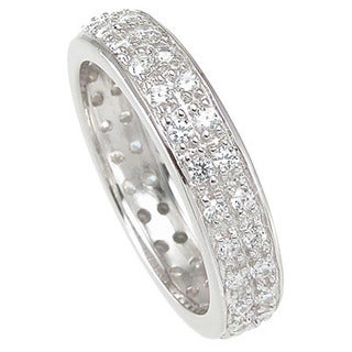 Sterling Silver Cubic Zirconia 5mm Eternity Ring