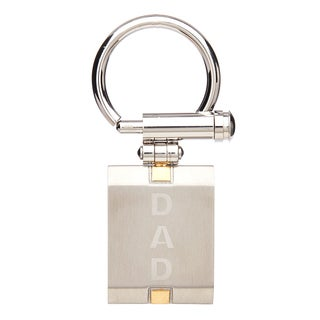 James Cavolini Two Tone Stainless Steel IP Gold 'DAD' Key Chain
