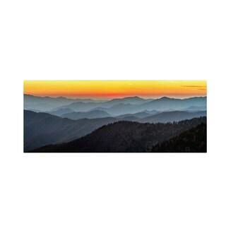 Pierre Leclerc 'Great Smoky Sunset' Canvas Art
