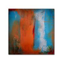 Nicole Dietz 'Orange Swatch' Canvas Art - Multi