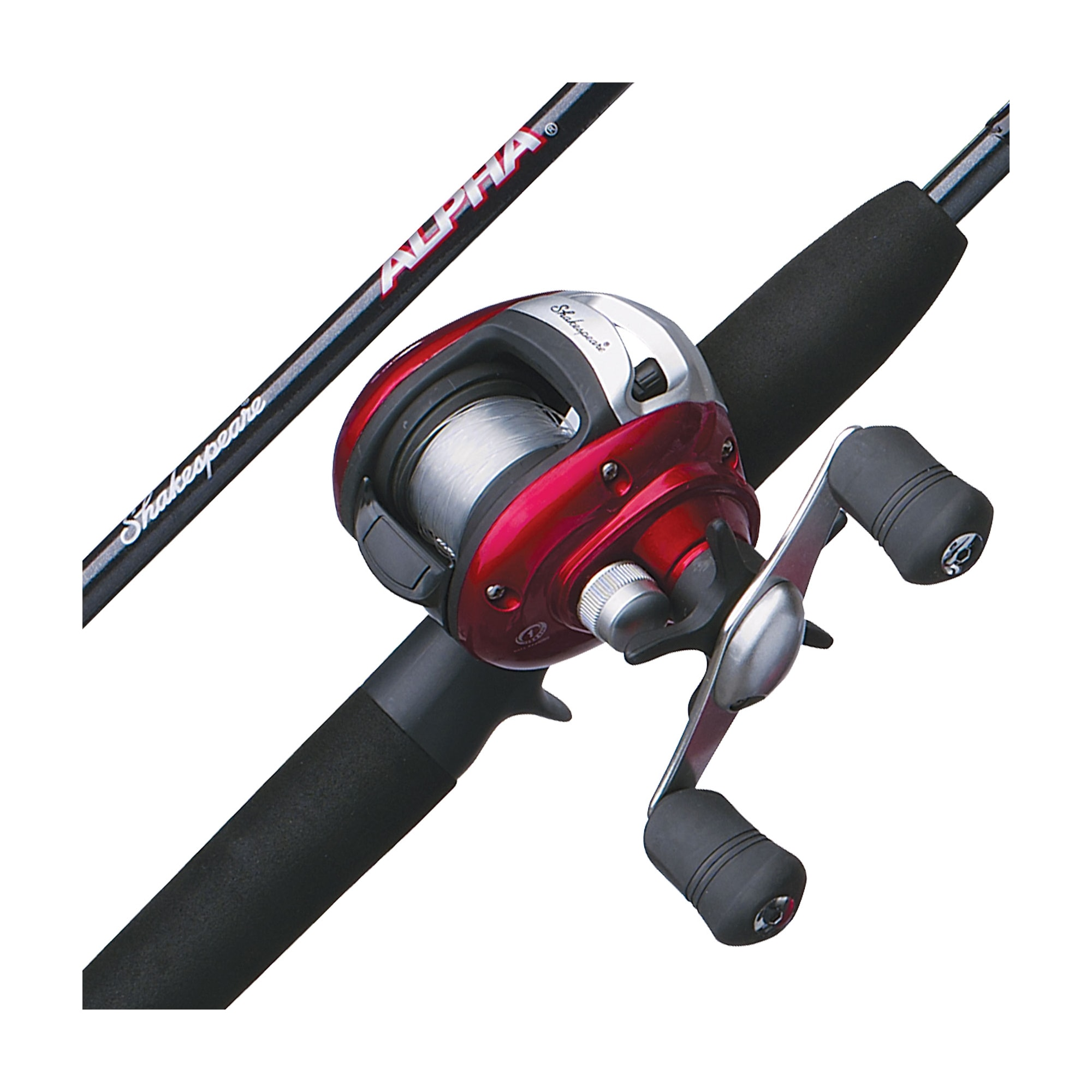 Shakespeare Alpha Medium 6/' Low Profile Fishing Rod and Bait cast Reel Combo 2