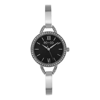 SO&CO New York Women's SoHo Quartz Crystal Stainless Steel Bangle Watch|https://ak1.ostkcdn.com/images/products/10433808/P17531422.jpg?impolicy=medium