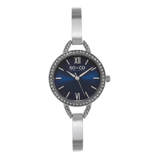 SO&CO New York Women's SoHo Quartz Stainless Steel Blue Dial Mesh Strap Watch
