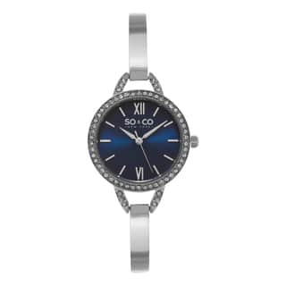 SO&CO New York Women's SoHo Quartz Crystal Stainless Steel Bangle Strap Watch|https://ak1.ostkcdn.com/images/products/10433809/P17531423.jpg?impolicy=medium