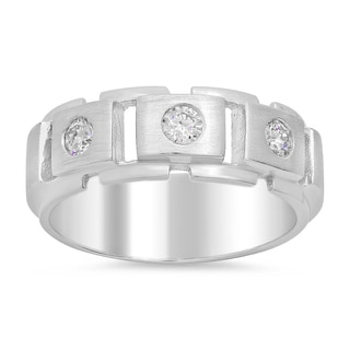 14k White Gold Men's 1/4ct TDW Diamond Ring (F-G, SI1)