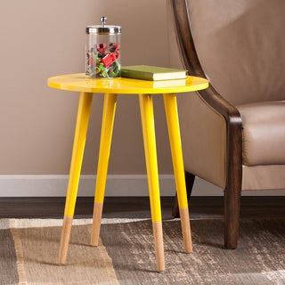 Yellow coffee sofa end tables affordable accent for Sofa table yellow