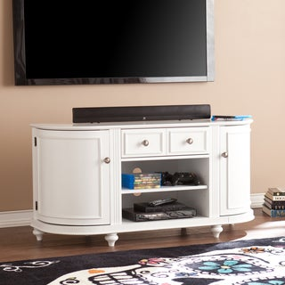 Harper Blvd Wells Modern Farmhouse White TV Stand