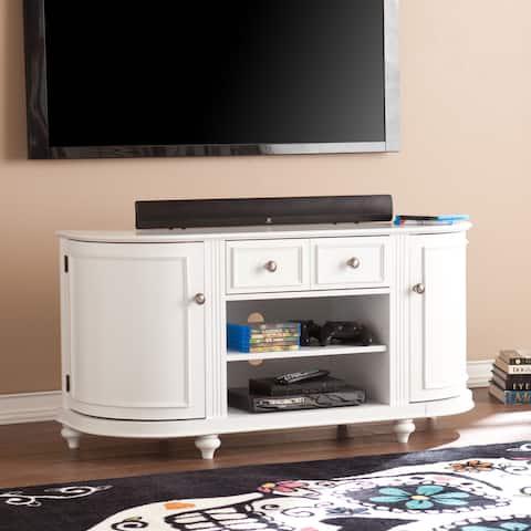 SEI Furniture Wells Modern Farmhouse White TV Stand