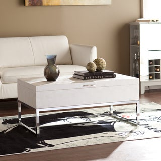 Harper Blvd Mirren Cream Reptile Storage Coffee/ Cocktail Table