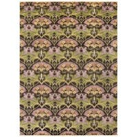 Hand-Knotted Prescot Floral Indoor Wool Area Rug (8' x 11')