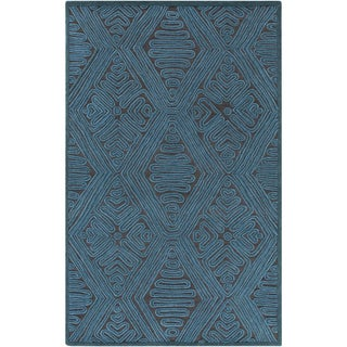 Hand-Woven Oldbury Taxtured Indoor Wool Rug (8' x 10')