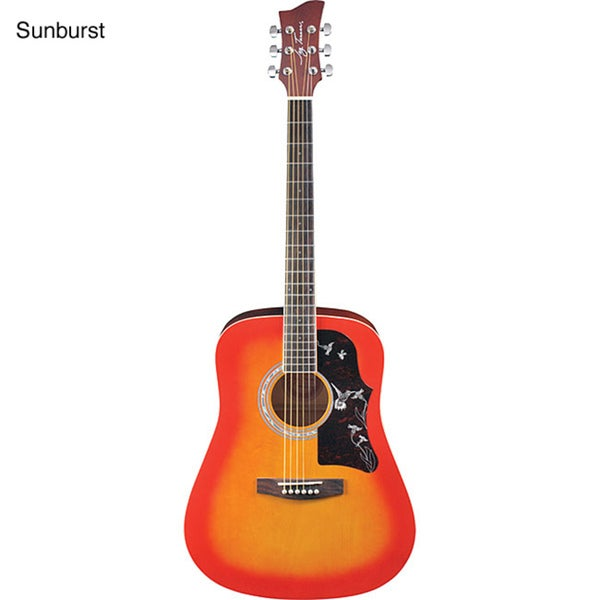 shop jay turser dreadnought acoustic guitar kit free shipping today overstock 1043393. Black Bedroom Furniture Sets. Home Design Ideas