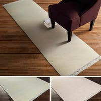 Hand-Knotted Swanley Solid Indoor Area Rug