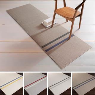 Hand-Woven Sudbury Stripe Indoor Wool Rug (2'6 x 8')