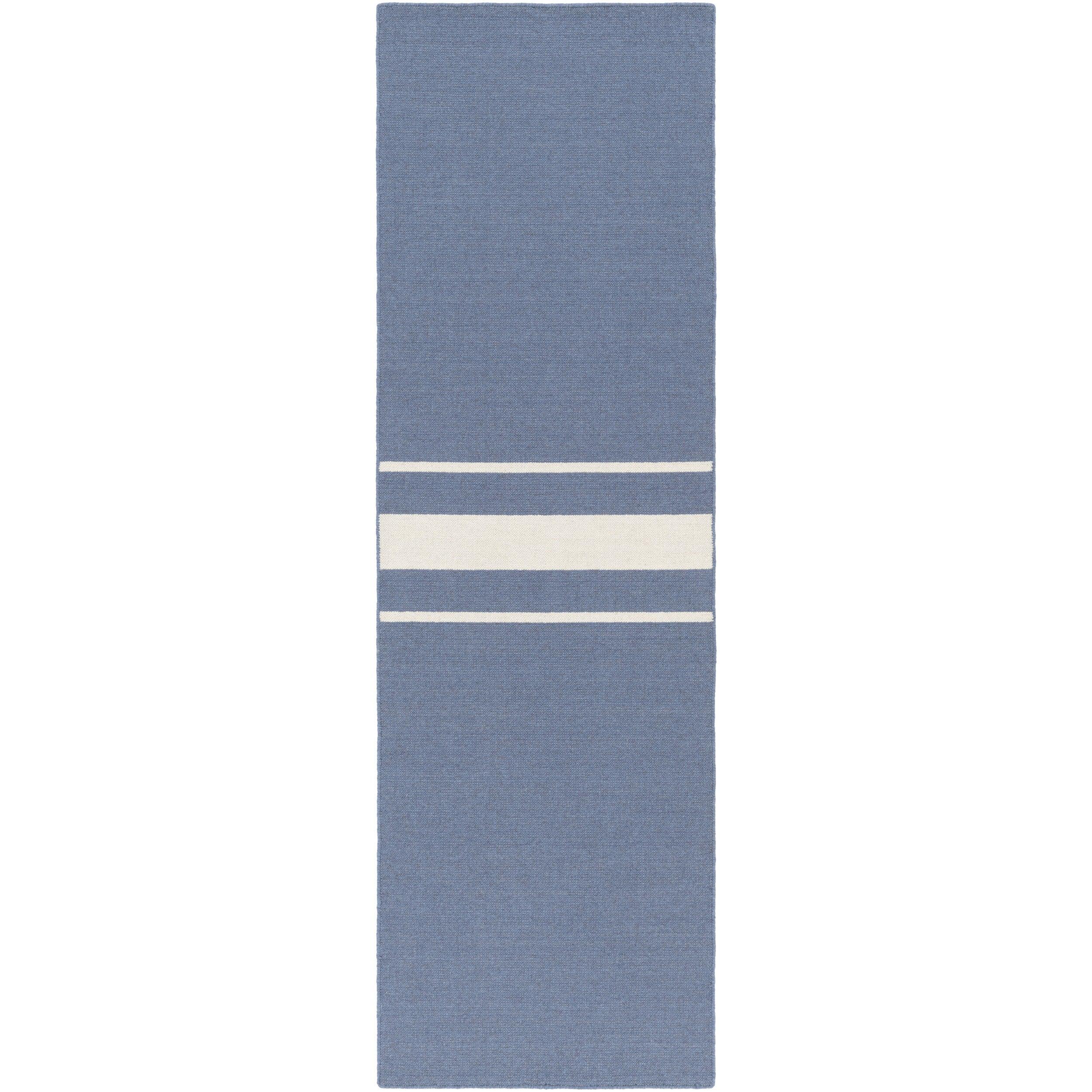SURYA Hand-Woven Leiston Stripe Indoor Wool Rug (2'6 x 8'...