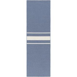 Hand-Woven Leiston Stripe Indoor Wool Rug (2'6 x 8')
