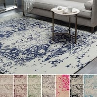 Hand-Tufted Prudhoe Border Indoor Viscose Rug (12' x 15')