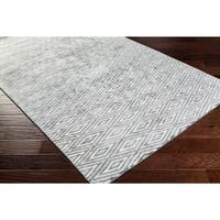 Hand-Woven Grimsby Geometric Viscose Rug (12' x 15')