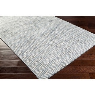Hand-Woven Grimsby Geometric Viscose Area Rug - 12' x 15'