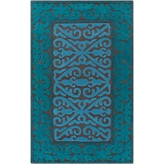Hand-Woven Shildon Damask Wool Rug (2' x 3')