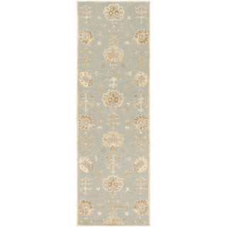 Hand-Tufted Syston Floral Wool Area Rug - 3' x 12' Runner