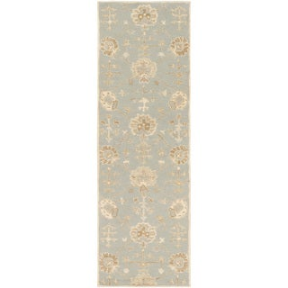 Hand-Tufted Syston Floral Wool Rug (3' x 12')