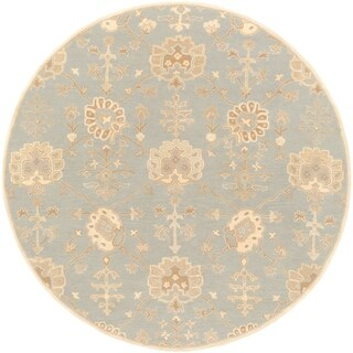Hand-Tufted Syston Floral Wool Area Rug - 6' Round