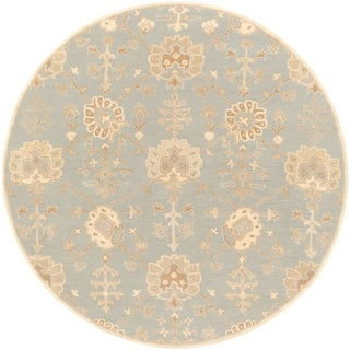 Hand-Tufted Syston Floral Wool Area Rug - 4' Round
