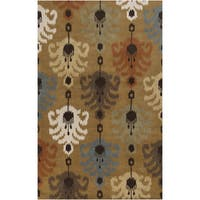 Hand-Tufted Ordie Ikat Wool Area Rug (9' x 13')