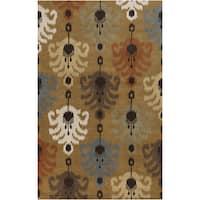 Hand-Tufted Ordie Ikat Wool Area Rug
