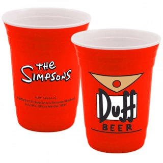 The Simpsons Duff Beer Red Party Cup