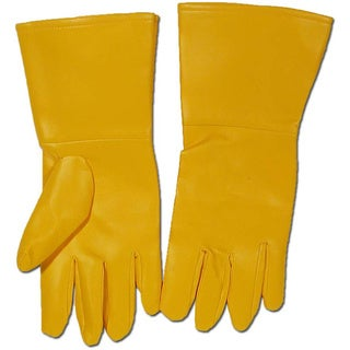 Yellow Superhero Gloves Pvc Oversized Flash Wolverine Robin Comics Costume