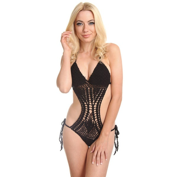 Crochet Monokini : Black Crochet Monokini - Free Shipping On Orders Over $45 - Overstock ...