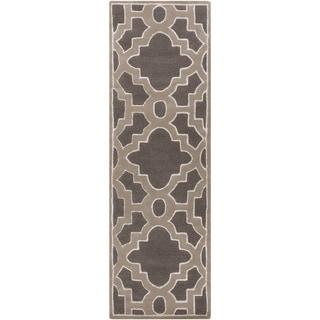 Hand-Tufted Schmit Morrocan Trellis Rug (2'6 x 8')