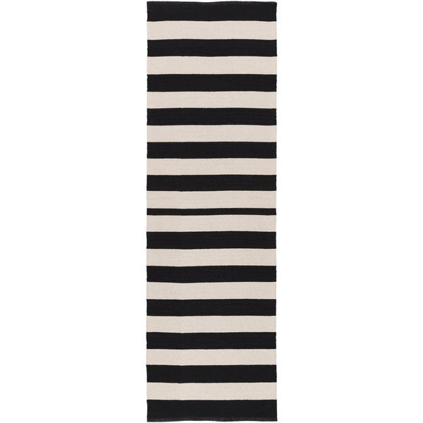 Hand-Woven Stacy Stripe Cotton Area Rug