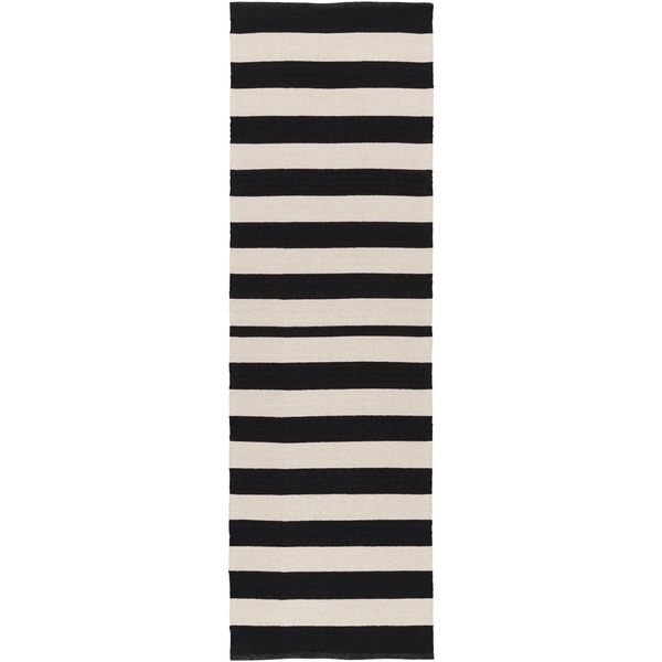 Hand Woven Stacy Stripe Cotton Rug 2 6 X 8 Free
