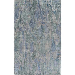 Hand-Tufted Isabel Abstract Banana Silk Area Rug