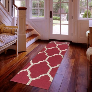 Hand-Tufted Hubert Geometric Pattern Viscose Rug (2'6 x 8')